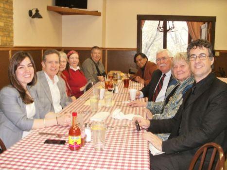 KPP members and friends having dinner with 7 Cajas co-director Juan Carlos Maneglia