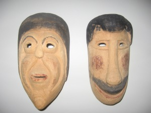 African inspired Paraguayan Masks